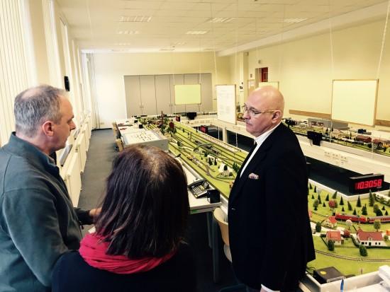 Detlef Müller, MdB zu Besuch in der Industrieschule Chemnitz