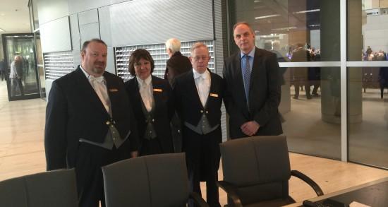 Detlef Müller, MdB und der Plenarassistenzdienst im Deutschen Bundestag