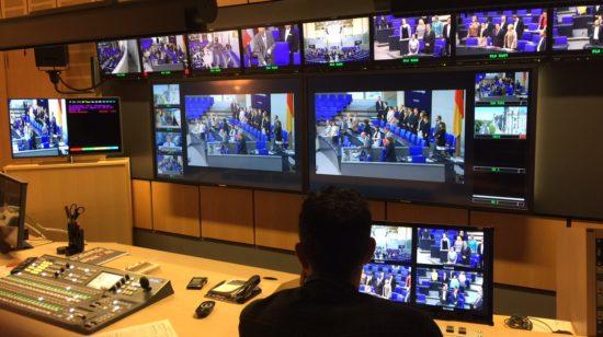 Parlamentsfernsehen im Bundestag