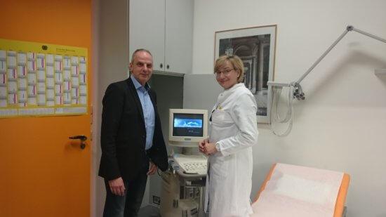 Detlef Müller besucht den Der betriebsärztliche Dienst im Bundestag
