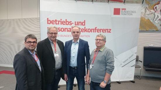 SPD-Fraktion im Dialog- Betriebsräte aus Chemnitz vor Ort